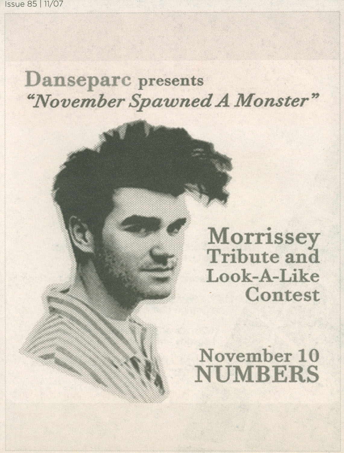 Ad, Morrissey Look-Alike Contest