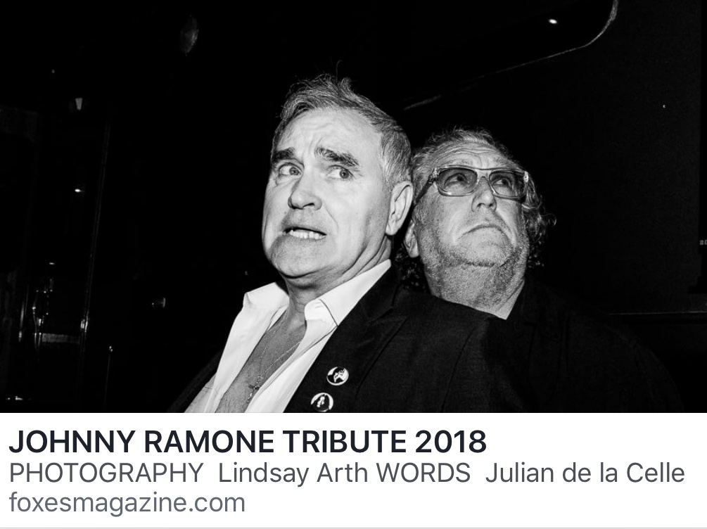 Morrissey at Johnny Ramone tribute in Hollywood (Aug. 26 ...
