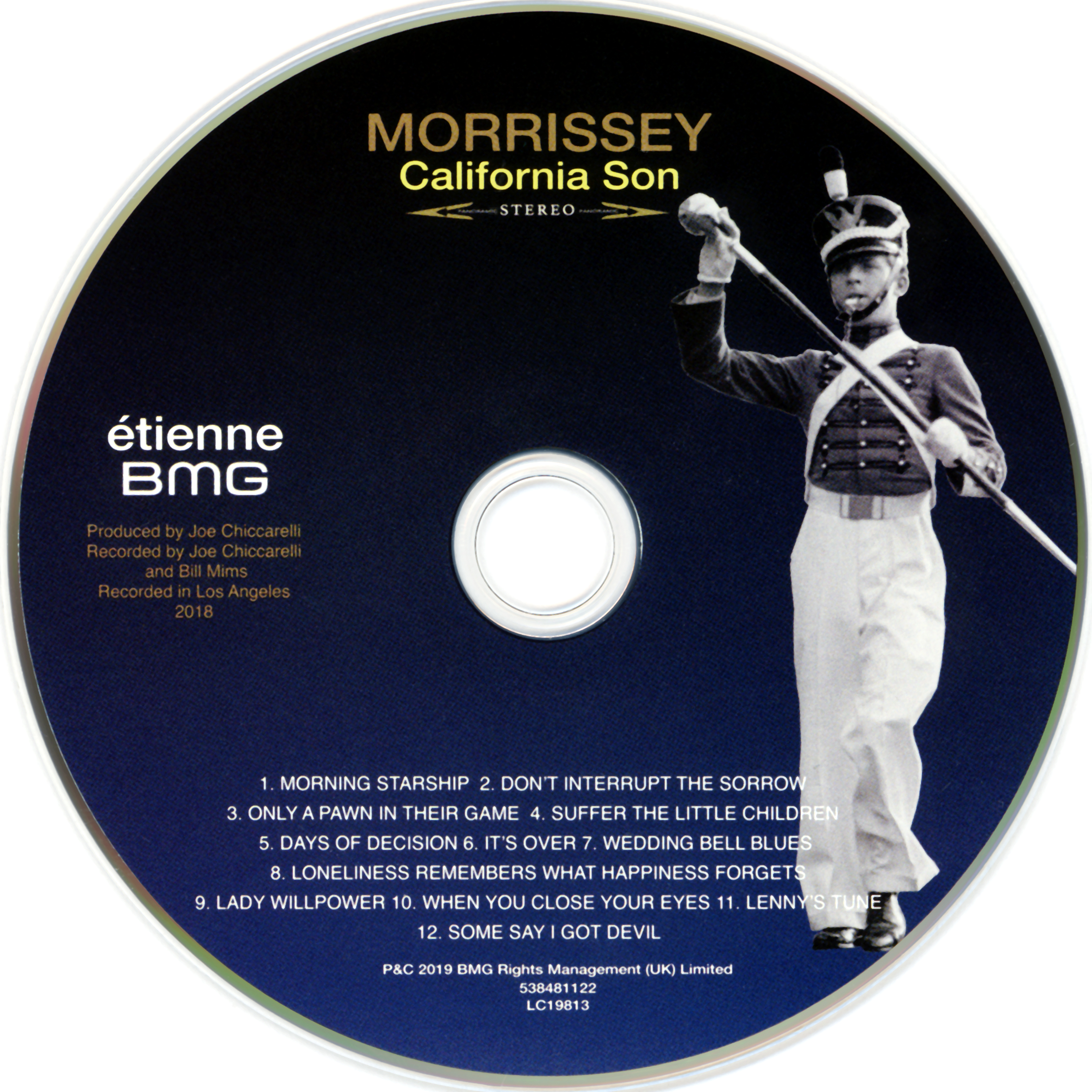 2019-05-24 'California Son' By Morrissey [U.S. Étienne Records Pressing] [CD Face]