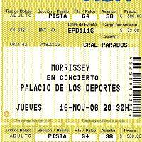 ticket del concierto