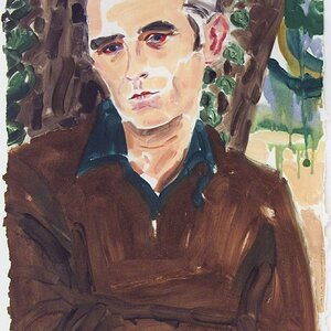 Morrissey after Wolfgang 2004 monotype on paper ~ Elizabeth Peyton.jpeg