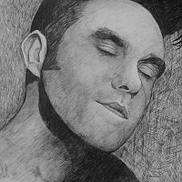 Painting of Morrissey