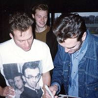 Morrissey signing for a fan 1992