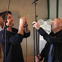 Engineer_Maxime_Le_Guil_and_producer_Joe_Chiccarelli_in_La_Fabrique_Studio